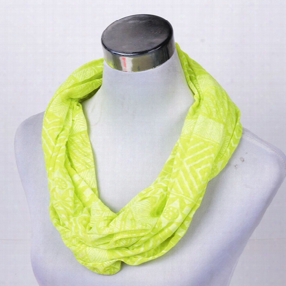 Wholesale-free Ship Girl Peace Pink Geometric Solid Scarf Summer Shawl Women Infinity Scarf Lemon Green Loop Scarf Female Cheap Scarf