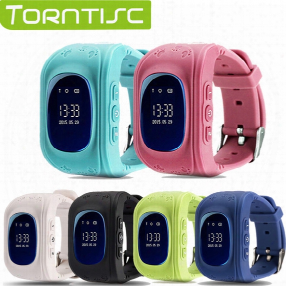 Wholesale- Torntisc Q50 Kid Safe Gps Smart Watch Locator Tracker Anti Lost Monitor Lovely Wristwatch Support Micro Sim Card For Children