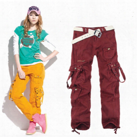 Women's Clothing Fashion Winter Women Baggy Cargo Pants Girls Harem Slim Straight Cargo Trousers For Hip Hop Dance 20a