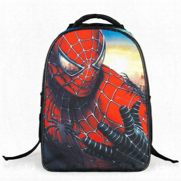 2015 New Stlye Children's Cartoon School Bags Spider-an & The Avengers Shoulders Bags Burdens Male Students Design Backpacks Schoolbag .