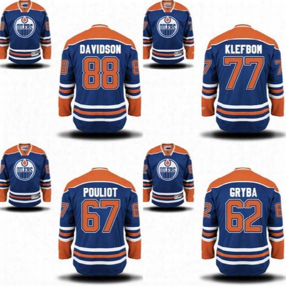 2016 Men 55 Mark Letestu 62 Eric Gryba 67 Benoit Pouliot 77 Oscar Klefbom Jersey Edmonton Oilers Stitched Hockey Jerseys S-3xl