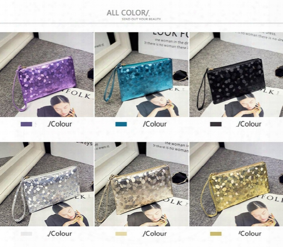 20pcs Women Pu Zipper Clutch Bag Phone Wallet Purse Key Coins Handbag Pouch Bags Storage Bag Cosmetic Bags Mobile Phone Bag 6 Colors