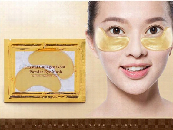 24k Gold Eye Collagen Aging Wrinkle Under Crystal Gel Patch Anti Mask + Free Shipping + Free Gift