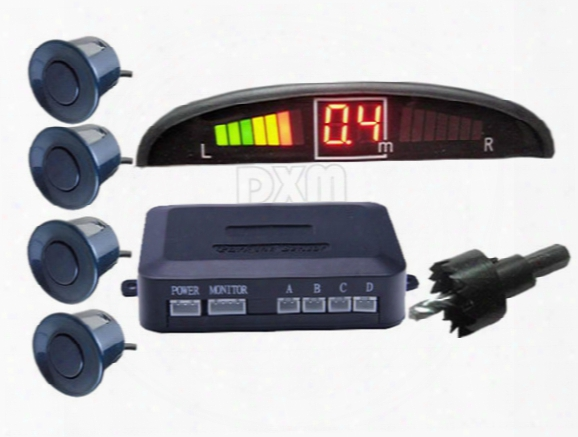 A Variety Of Colors 4 Parking Sensors Led Display Car Parking Sensor System Car Reverse Backup Radar