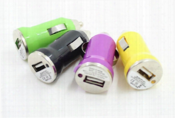 Dhl Usb Bullet Car Charger Colorful Universal Charger Adapter For Phone Iphone 4 4s 3g 4g