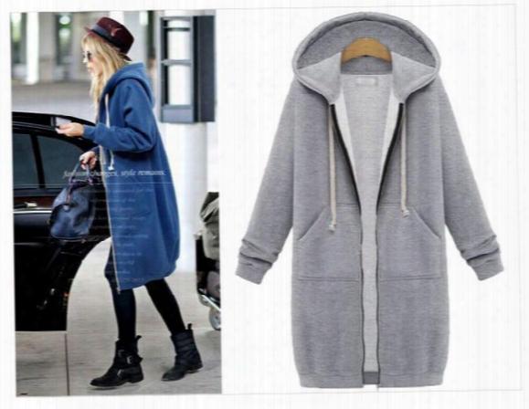 Europe Style Women's Clothes 2016 Hoodies For Women Casual Zipper Hoodies Long-sleeved Cardigan Jackets Long Fleece Sweatshirts Women 2016