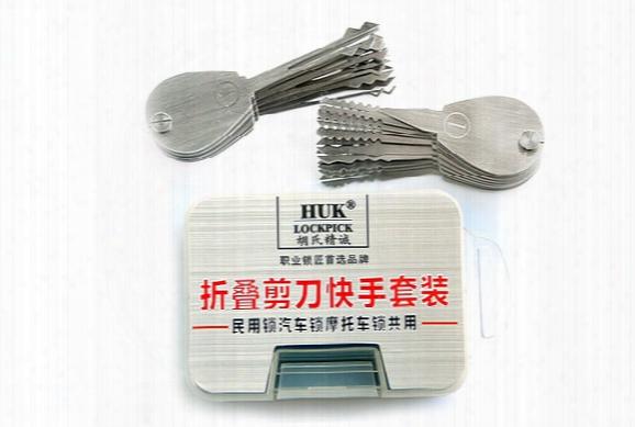 Free Shipping!! Locksmith Tool Huk 20 Piece Car Lock Auto Picks Syg-102