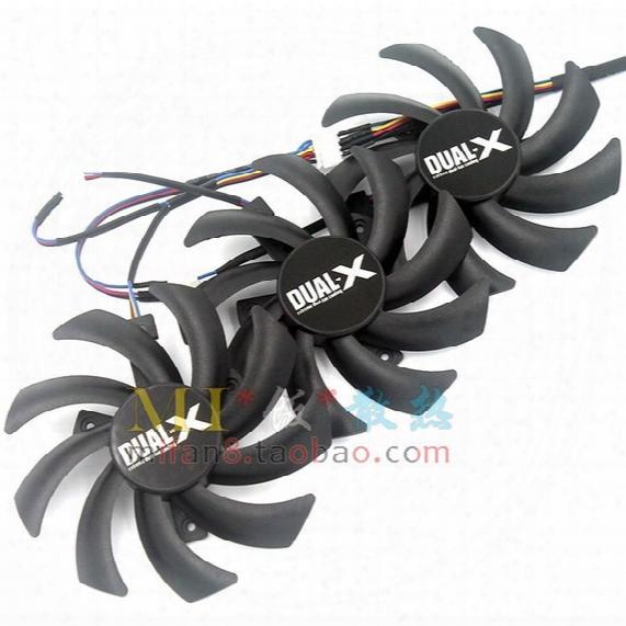 Free Shipping Pld09210d12hh Sapphire R9 270x R9 280x R9 290 R9 290x Vapor-x Oc Graphics Card Cooling Fan