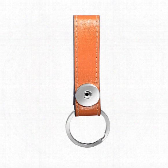 High-end Leather Keychain Alloy Snap Button Car Key Chain Key Ring High-end Single Ring Keyching For Father's Day For Gift Wholesale
