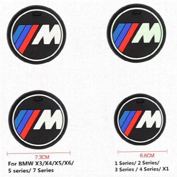 High Qulaity Silica Gel Car Cup Anti-slip Pad Mat For Bmw 1 3 5 7 Series F30 F35 320li 316i 328 X1 X3 X5 X6 Accessories