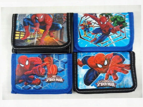 Hot !new! 48pcs Super Hero Spiderman Cartoon Children's Kids Boys Various Stocking Filler Wallet Purse Coins Bag Popular Gift