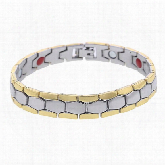 Men& #039;s Link Chain Bracelet Silver Color Copper Sports Magnetic Health Care Bracelet & Bangles For Women Men Jewelry Gifts
