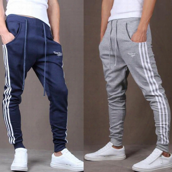 Mens Joggers Fashion Casual Harem Sweat Pants Sport Pants Sarouel Men Tracksuit Bottoms For Track Training Jogging Hip Hop Gym Cargo Pants