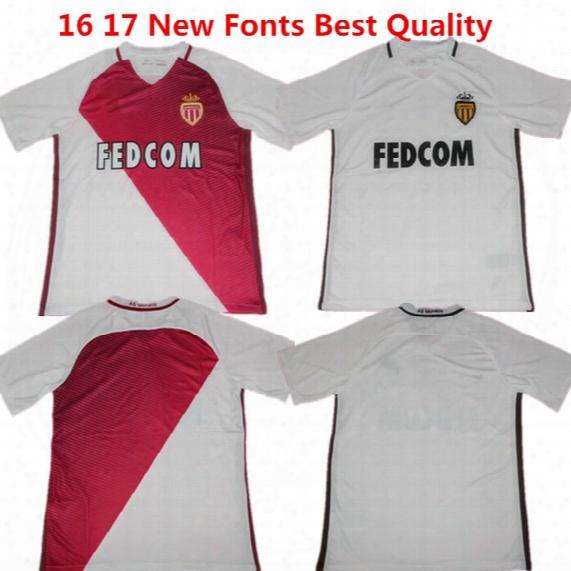 Soccer Jersey As Monaco Football Shirts Falcao Maillot De Foot 2016 2017 Association Sportive De Monaco Benardo Carrillo Lemar Home Kids