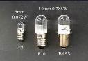 E5 1 LED replacement lamp,E5 LED light bulb,E5 1 LED Miniature Bayonet bulb lamp 12V white Free shipping