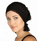 Women's Ruffle Chemo Hat Beanie Scarf Turban Headwear for Cancer Patients