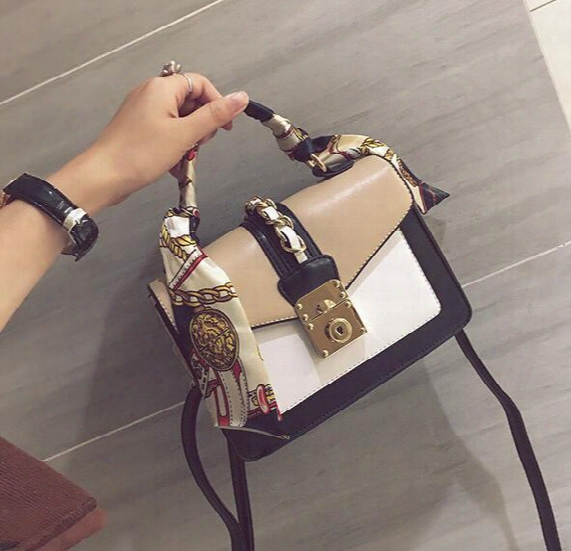 Wholesale Brand Package, Fashion Scarves, Portable Small Bag Street Shot, The Same Type Of Hit Color Handbags, Elegant Stitching Leather Ha