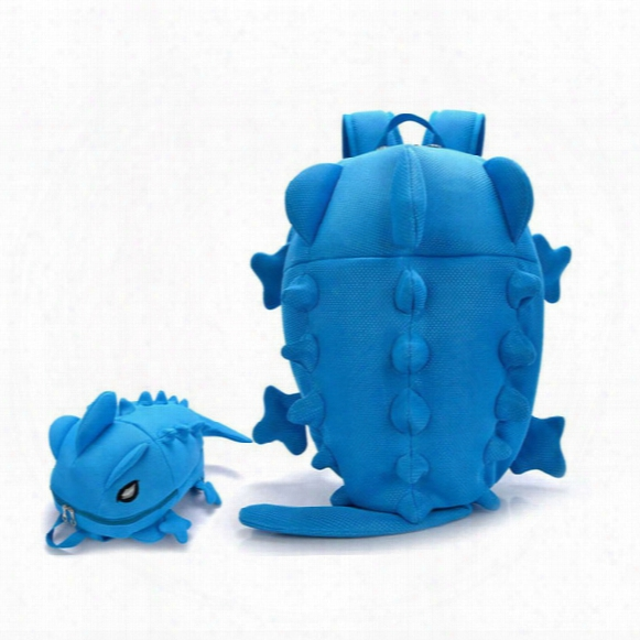 Wholesale- Designer Women Backpacks Dinosaur Monster Backpack Cartoon Animal Shoulder School Bag For Teenagers Girls Boys Chameleon Lizard