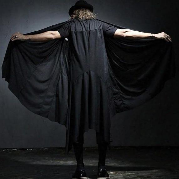 Wholesale- New Fashion Summer Men's Sleeveless Punk Hoodies Vest High Street Men Loose Cardigan Vest Male Black Hip Hop Vest K285