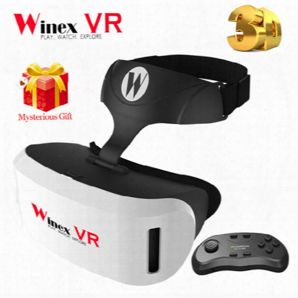 Wholesale- Winex 3d Glasses Vr Google Cardboard Vr Box Xiaozhai Bobo Vr Z4 Virtual Reality Headset Goggles+bluetooth Remote Gamepad