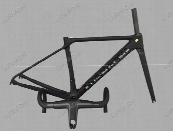 2016 1:1 T800 Ultra Light Ud Carbon Road Bike Frame Racing Bicycle Frame+fork+seat Post+headset+handlebar+(bb68 Or Bb30 Adapter) Xxs,xs,s,m