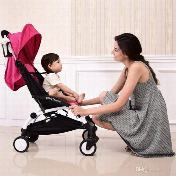 2017 New European High Landscape Portable Lightweight Baby Stroller Foldable Baby Pram Pushchairs Kinderwagen Baby Carriage Free Shipping