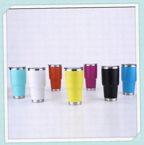 20oz 30oz 7 Color Ramblers Tumblers Stainless Steel Wine Glass Cup Travel Vehicle Beer Mugs Vacuum Insulated Double Wall Cup