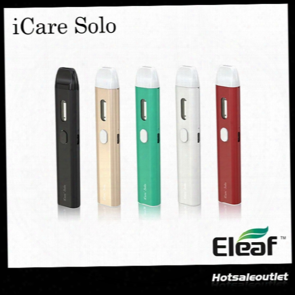 Authentic Eleaf Icare Solo Starter Kit With 320mah Built-in Battery & 1.1ml Tank & Eleaf Icare 140 Starter Kit 100% Original