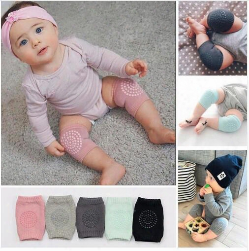 Baby Knee Pads Crawling Cartoon Safety Cotton Protector Kids Kneecaps Children Short Kneepad Baby Leg Warmers 8 Colors Dhl Free Shipping