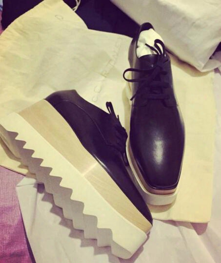 Black Stella Mc Shoes Woman Platform Elyse Wedge Britt Lace-up Shoes