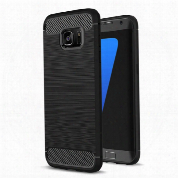 Carbon Fiber Case For Samsung Galaxy Note 8 S8 Plus S7 Edge For Iphone X 8 7 Plus 6 6s 5 5s Se Cover Soft Tpu Shockproof Mobile Phone Bags