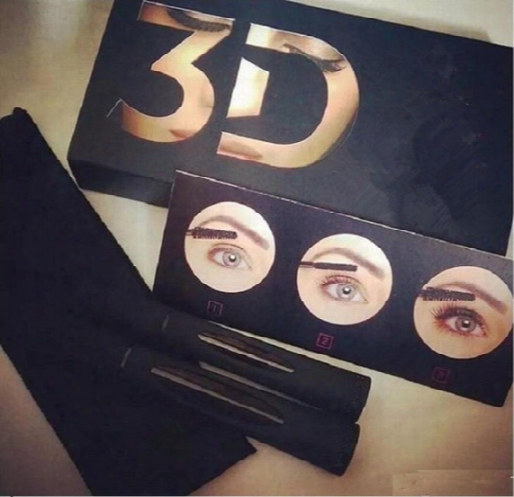 Factory Wholesale Mascara 3d Fiber Lashes Plus 1030 Version Waterproof Double With Barcode And Instruction Fast Shipping By Dhl