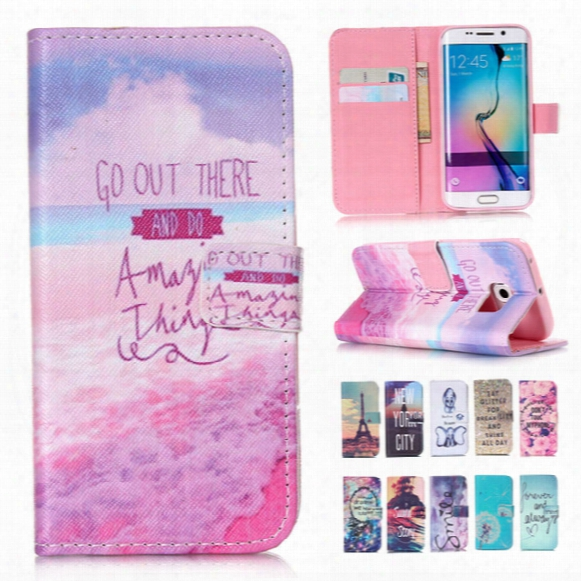 For Iphone 6 6s Plus Samsung Galaxy S6 /s6 Edge S5 Mini Letter Retro Patchwork Wallet Leather Tpu Phone Case Cover Card Slot