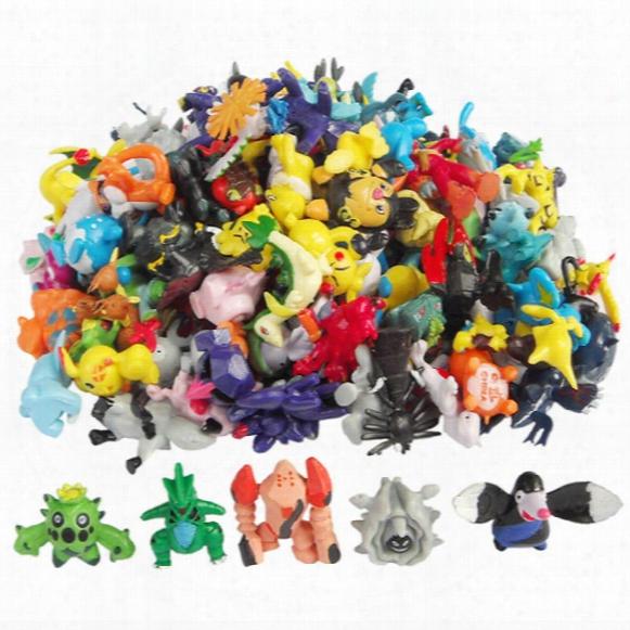 Free Dhl 144 Style Poke Go Figures Toys 2-3cm Multicolor Christmas Children Cartoon Pikachu Charizard Eevee Bulbasaur Pvc Mini Model Toy B