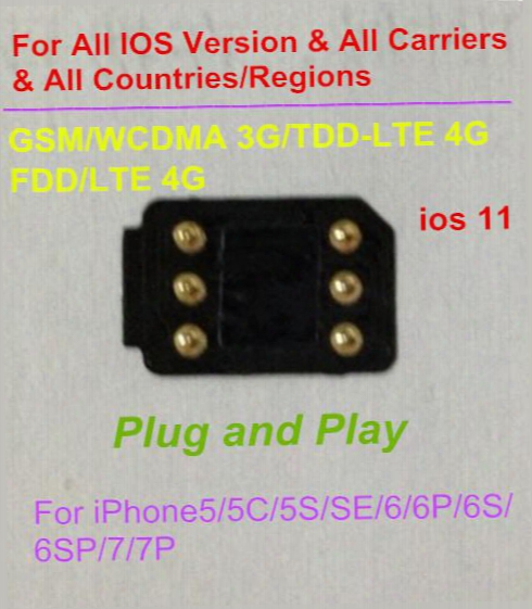 Free Dhl Newest Blacksim 4g Unlock All Ios & All Iphone Carriers And All Countries/region For Gsm/td-lte4g/3g Gpplte Rsim11+ Gevey