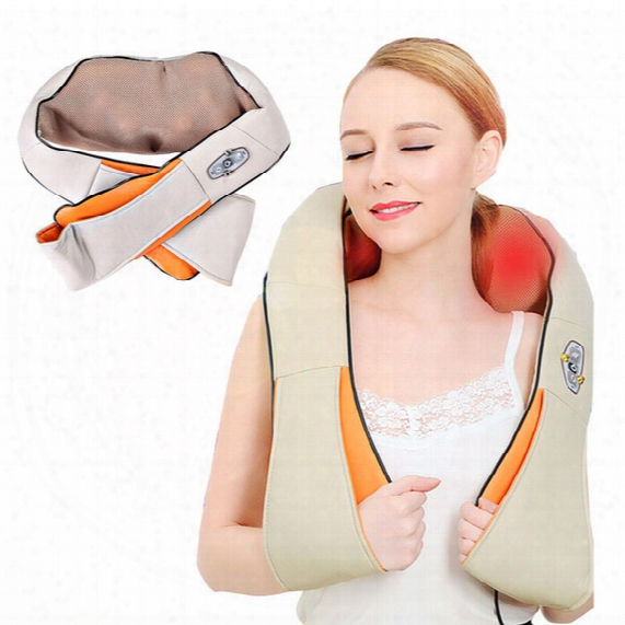Home And Car Dual-use Infrared Cervical Massage Shawls Pillow Shiatsu Kneading Neck And Shoulder Massager Body Massager