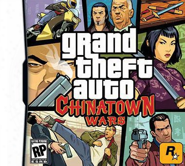 Hot Games: Grand Theft Auto Chinatown Wars, With Retail Package, Us Version 5pcs Freeshipping