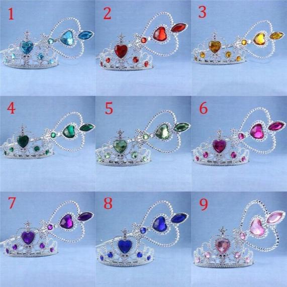 In Stock Crown Tiara Headband Set Princess Elsa Anna Frozen Queen Magic Wand Princess Cosplay Magic Wand Rhinestonekids Kids Crown Hair