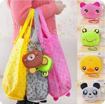 Japanese Cute Cartoon Animal Shopping Bag Folding Portable Fashion Waterproof Bag