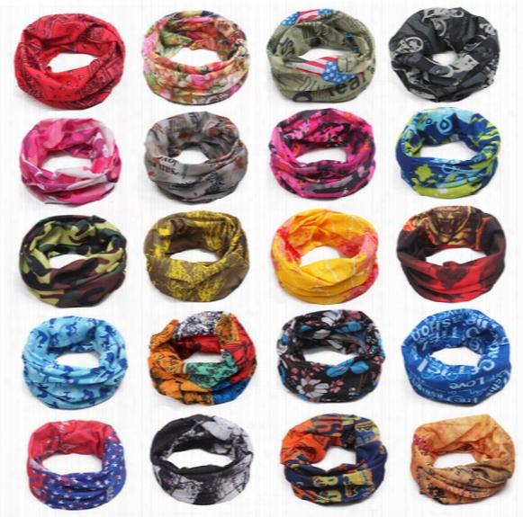 New Fashion Multifunctional Scarf Headband Outdoor Sports Turban Sunscreen Magic Scarves Veil Cycling Seamless Bandanas 2175
