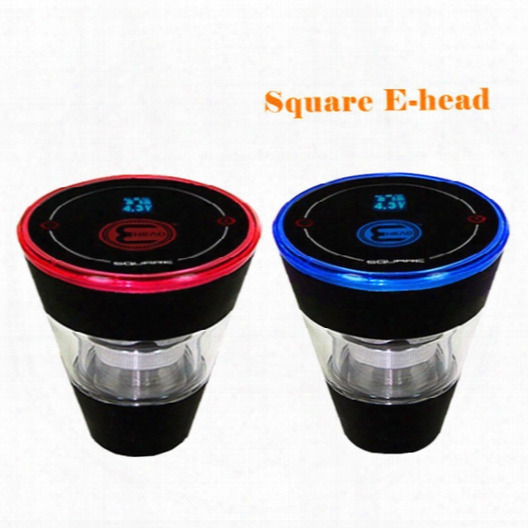 Newest Design Square E Head Ehead Electronic Cigarette E-head Ehookah Eshisha Square Cartridge Refillable E Hookah Dhl Free