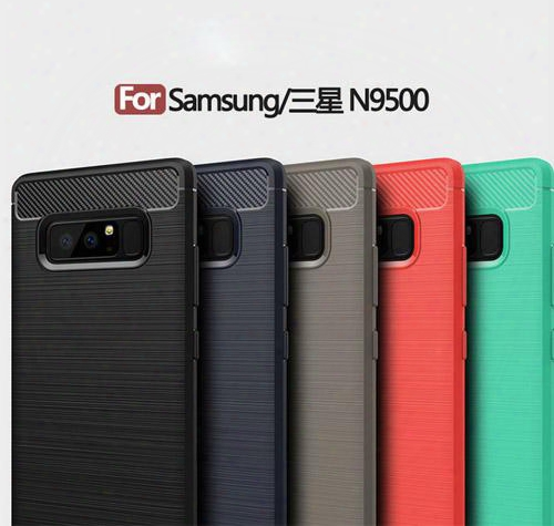 Rugged Armor Fiber Carbon Brushed Tpu Metal Tough Heavy Protective Case Cover For Samsung Galaxy Note8 N9500 Fashion Case