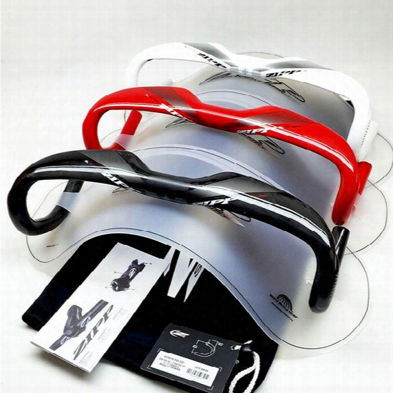 Sl 70 Aero Carbon Road Bike Handlebar Carbon Handlebar Ud Gloss Red/white/black Color