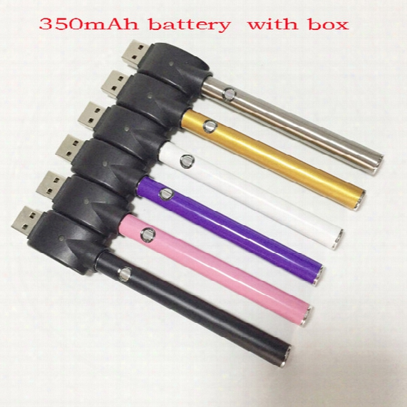 Slim Vape Battery Button Push 350mah Battery Bud O Pen Cartridge 510 Oil Vaporizer Cartridge E Cig Battery For Pen