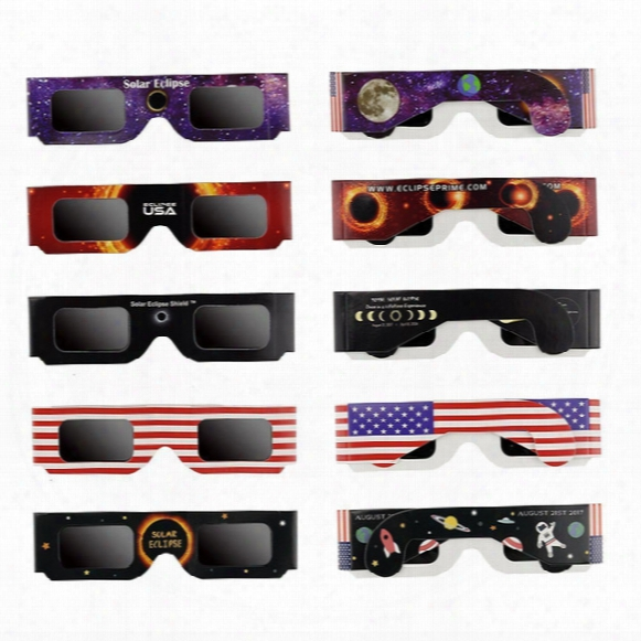 Solar Eclipse Glasses - Ce And Iso Certified Safe Shades For Direct Sun Viewing - Great American Eclipse 2017