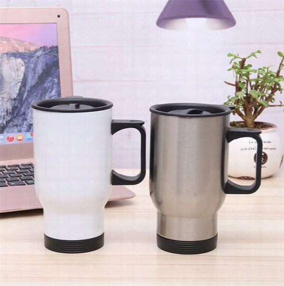 Stainless Steel Cup Mug Car Beer Cup 14oz Cups Double Layer Drinking Silver Travel Mug Sports Bottle Coffee Mugs Office Home Cup