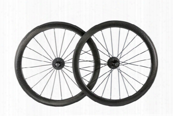 Sticker Is Available ! 50mm Road Bike Golf Surface Dimpled Tubular Clincher Wheelset Bicycle 25mm Width Fiber Full Carbon Dimple Wheels