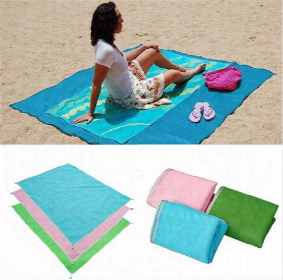 Summer Beach Mat Sand Blanket Portable Outdoor Camping Picnic Blanket Mat Rug Sand Dirt Dust Disappear 200*200cm
