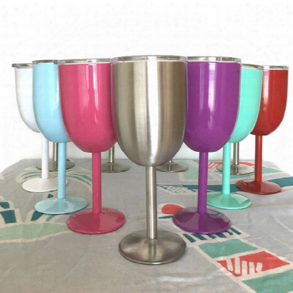 Thermal/cold Insulation 10oz Wine Glasses For Yeeti Rtic Style Wine Glass Cup Goblet Bilayer 10oz Wine Glasses True North