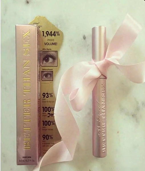 Too Faced Volume Mascara Rose Gold Better Than Sex High Quality Cool Black Mascara Waterproof Elongation Tf Thinck 24pcs Dhl Free
